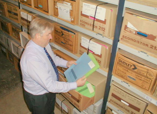 Files are organised using folders and archive boxes.